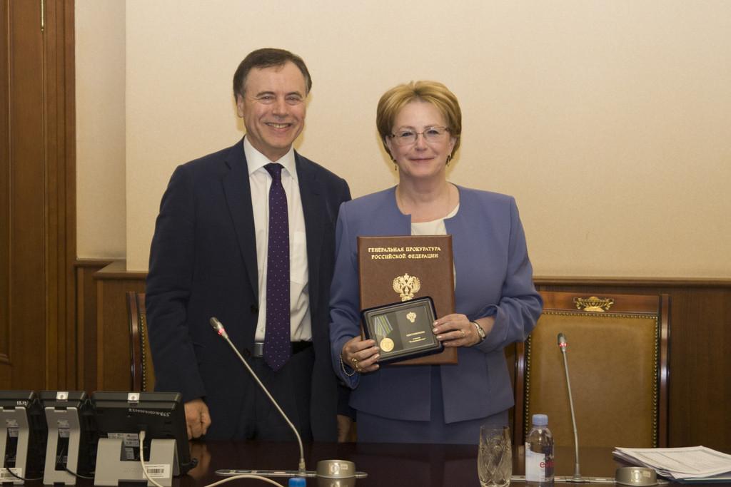 Генпрокуратура наградила Веронику Скворцову за сохранение законности
