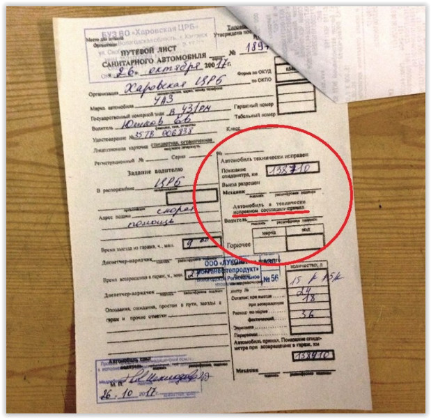 В Вологодской области водителя скорой увольняют за отказ покрывать неисправность автомобиля 2