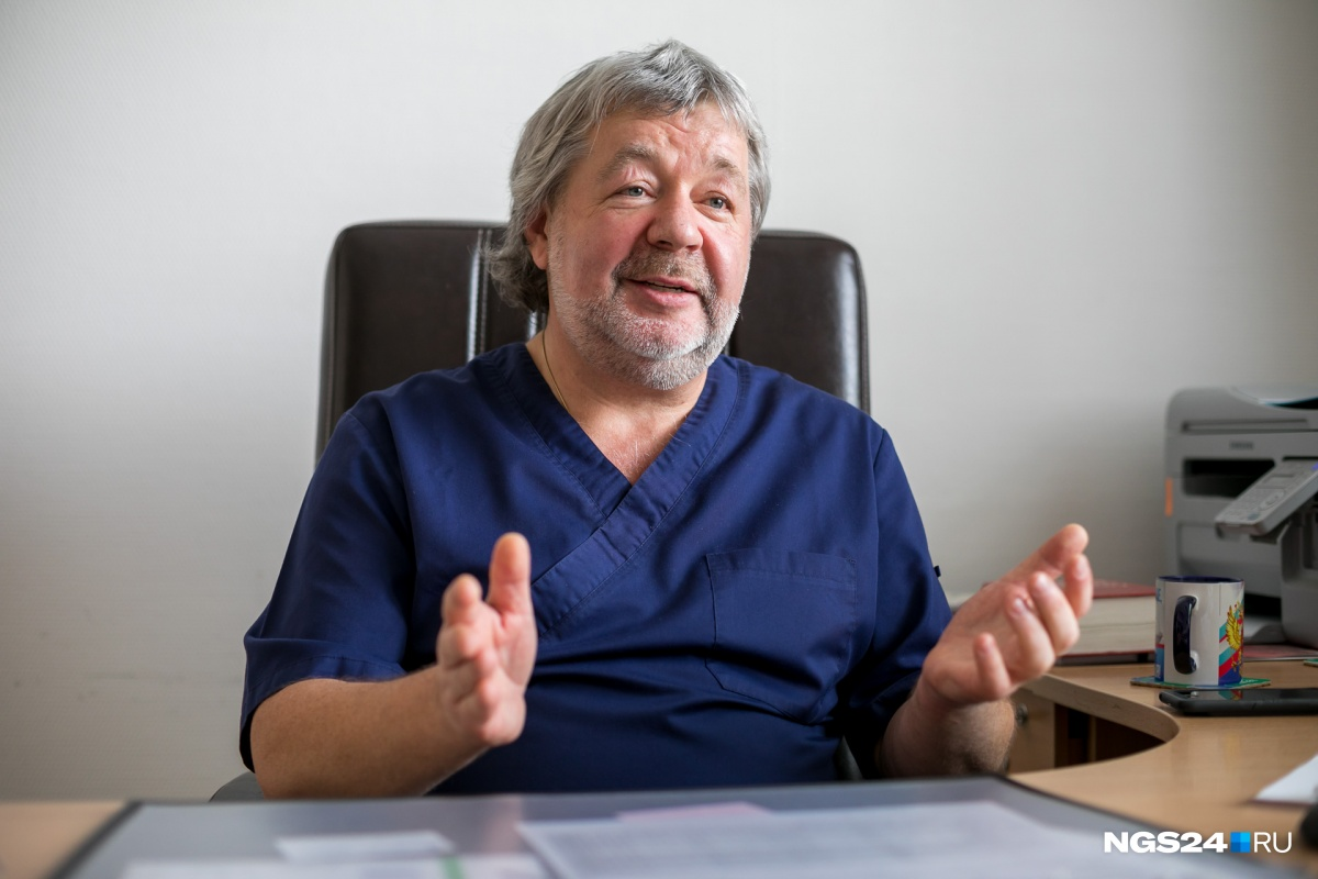Заведующий отделением кардиохирургии№2Федерального центра сердечно-сосудистой хирургии в Красноярске Эдуард Иваницкий