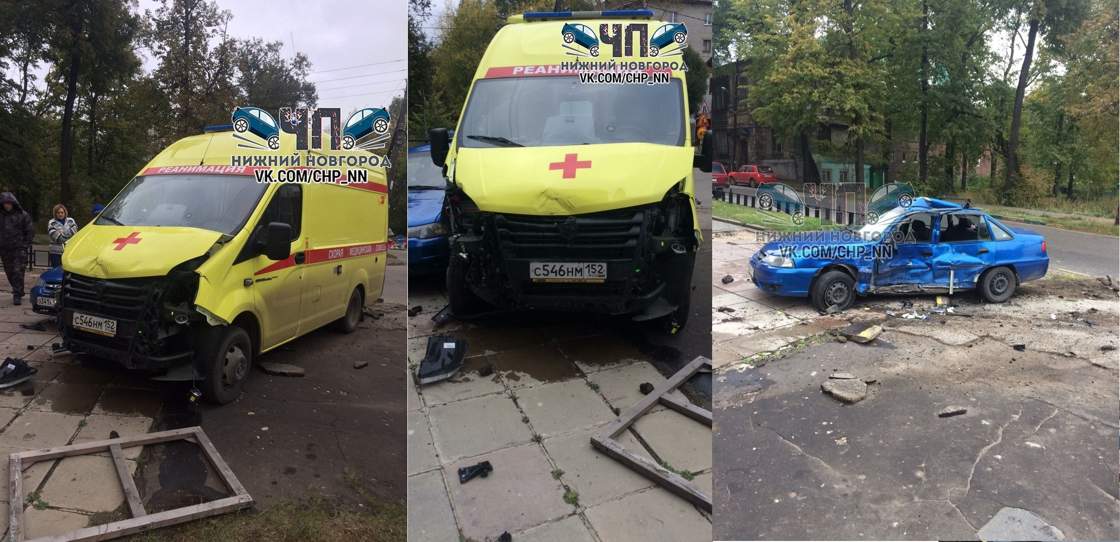 В Нижнем Новгороде такси столкнулось со скорой помощью