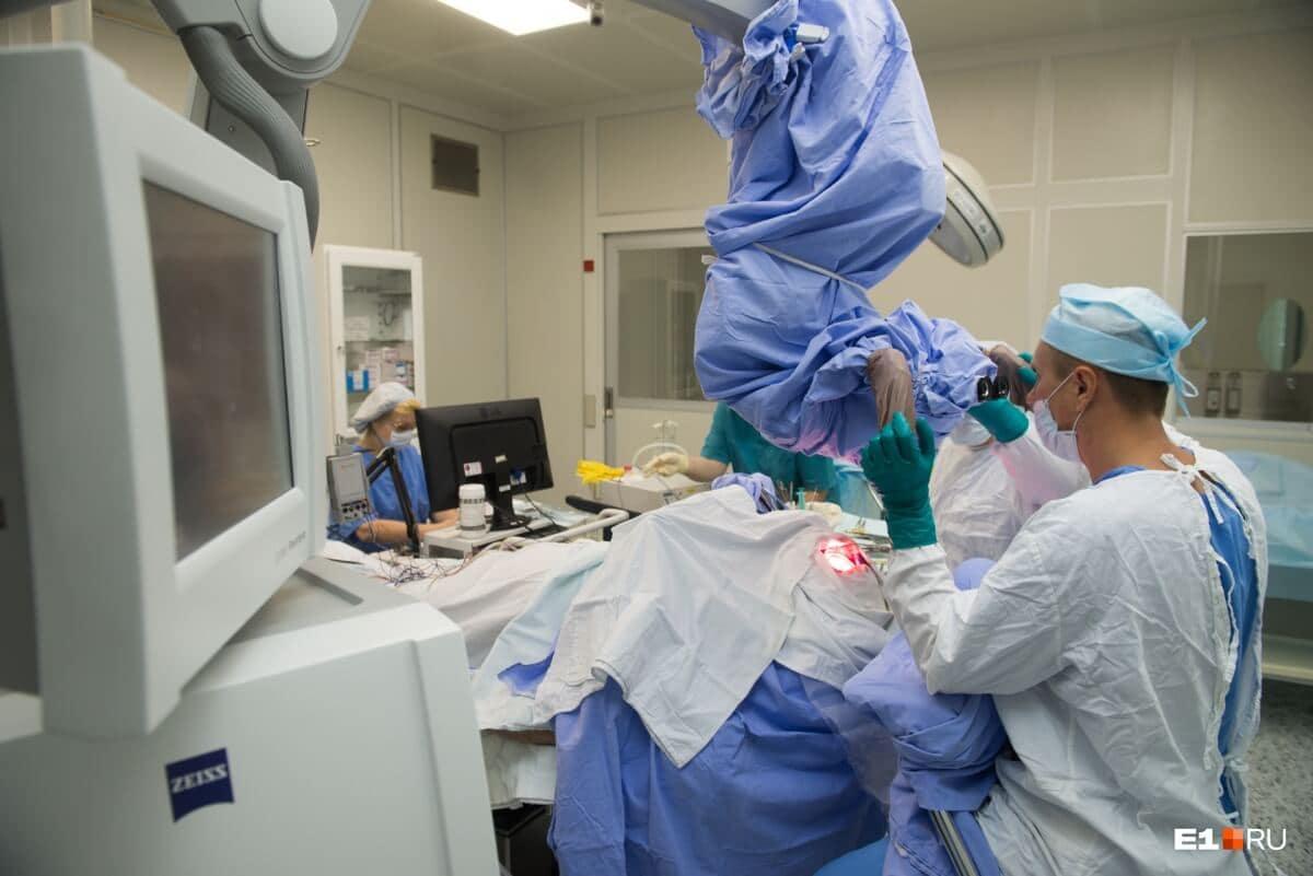 Екатеринбургские хирурги научились методу картирования во время операции на мозге