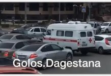 В Дагестане иномарка заблокировала проезд «скорой» на перекрёстке