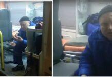 «Ты где куришь-то?»: Петербуржец снял на видео медика «скорой»