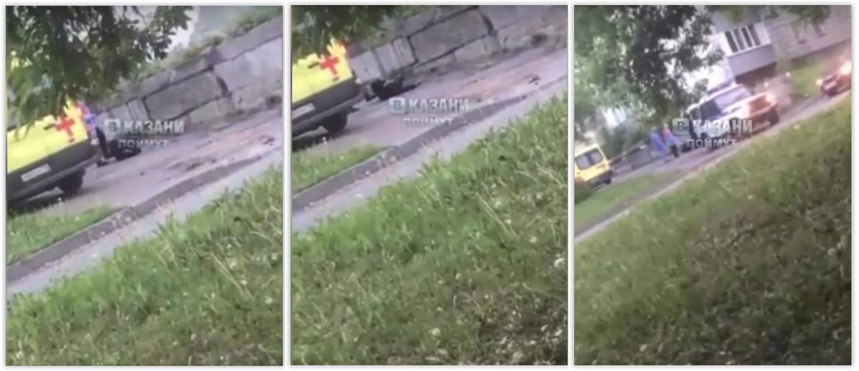Объявили выговор: Прохожий снял на видео, как фельдшер дотронулась ногой до бездомного