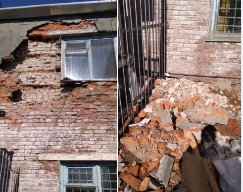 Минздрав: Обрушение части стены поликлиники не повлияет на доступность медпомощи