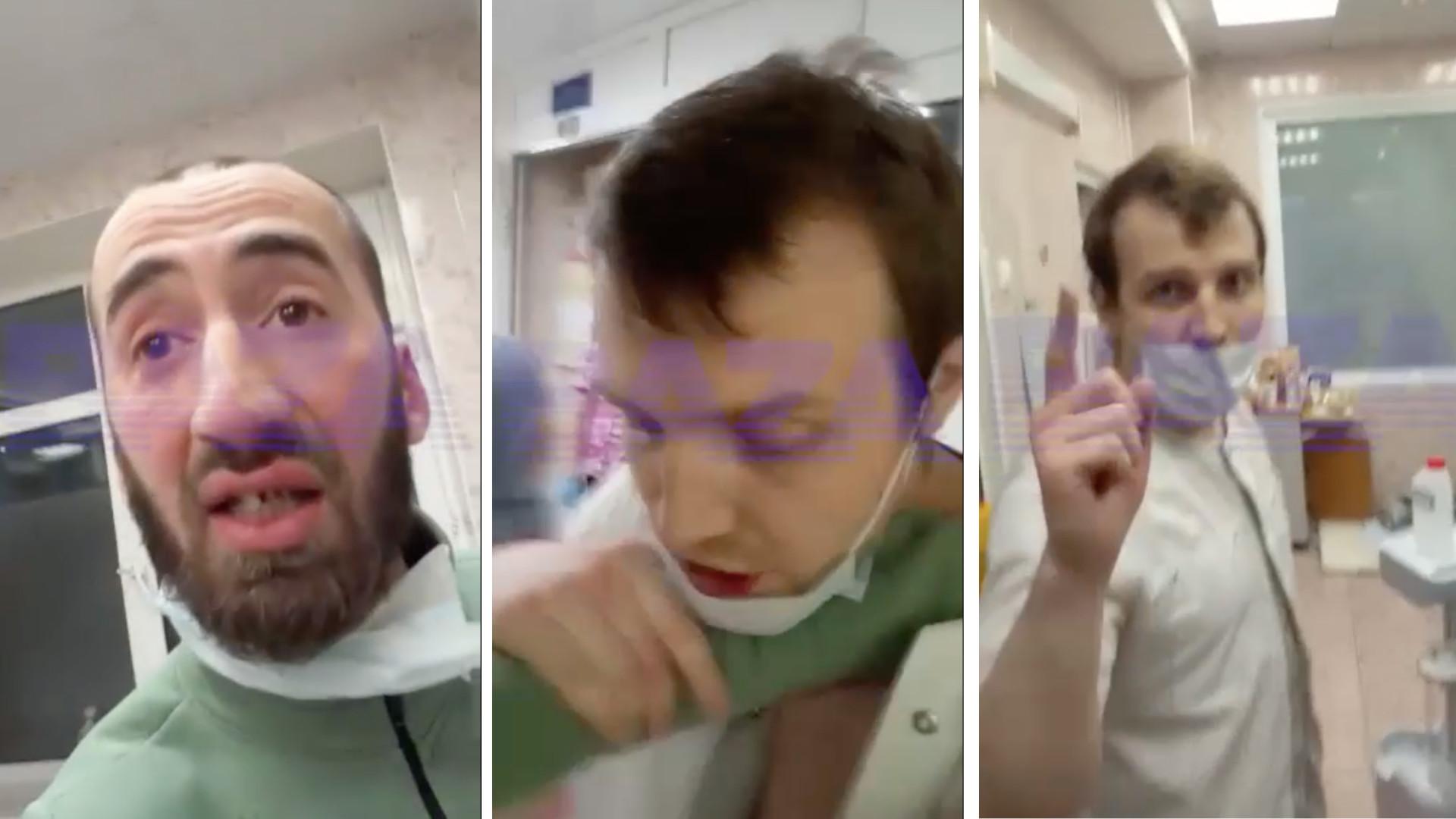 В Морозовской больнице отец пациентки напал на врача и выставил его зачинщиком конфликта
