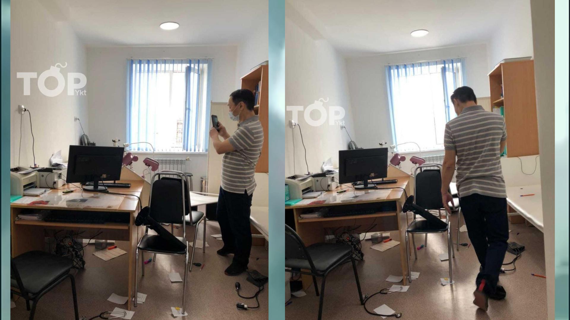 В Якутии женщина напала на врача и разнесла кабинет