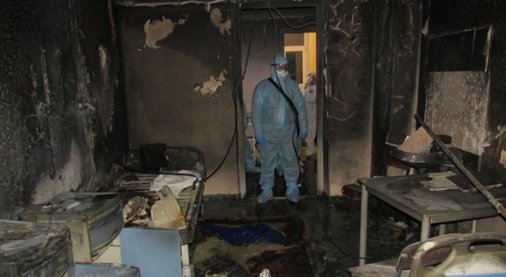 В Кирове при пожаре в инфекционном госпитале погибли два пациента